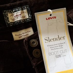 Levi's Jeans - NWT Levi's 526 Slender Coffee Berry cords